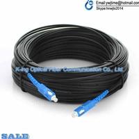 200M Outdoor FTTH Fiber Optic Drop Cable Patch Cord SC to SC Simplex SM SC SC 200 Meters Drop Cable Patch Cord