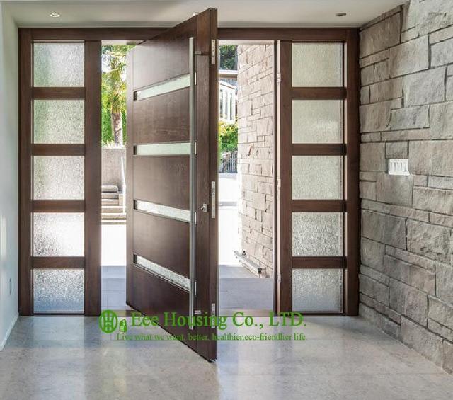 Drehtür Preis, Moderne Schwenk Türen Mit Gehärtetem Glas, Holz