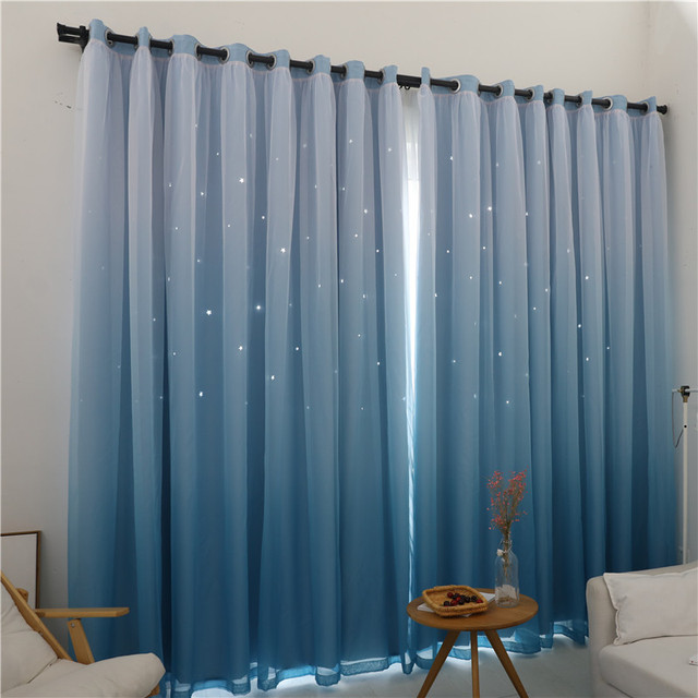 Niños habitación doble capa Cortinas para sala cortina princesa ...