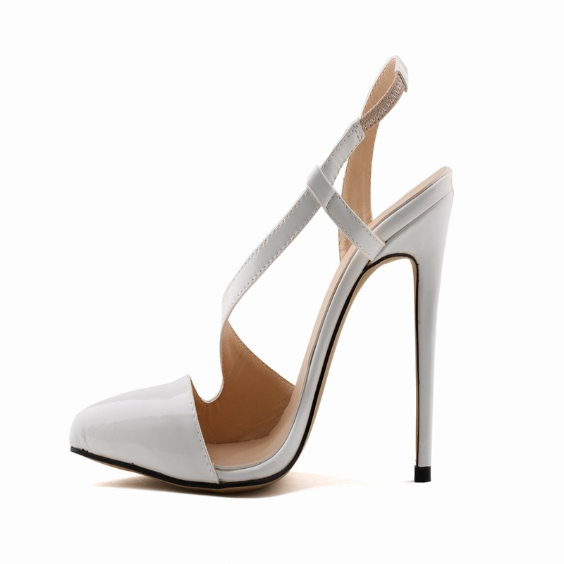 19603b6d7 Europe Spring Stiletto Pointed Women Shoes Coat of paint Leather Sandals  Factory 7 Color Sexy high heeled sandal-in Women's Sandals from Shoes on ...