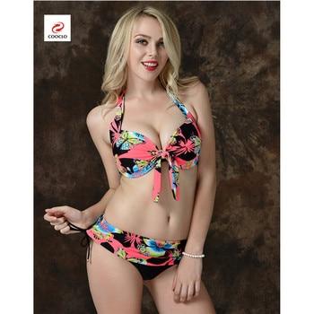 Cooclo Brand Plus Size 7XL Women Bikinis Set Butterfly Printed Push Up Biquini Swimwear Underwire Bathing Beach Cooclo Swimsuits 8