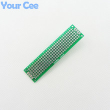 2X8cm DIY Prototype Printed Circuit Board Paper PCB Universal Circuit Practice Board Double Side Board 1.6mm 2.54mm Glass Fiber