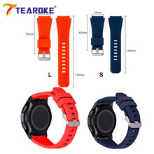 TEAROKE 22mm Silicone Watchband for Samsung Galaxy Watch 46mm version Soft Rubber Sport Band Strap Bracelet for Gear S3 SM-R800(China)