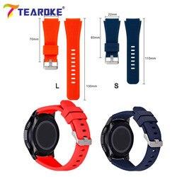 TEAROKE 22 мм силиконовый ремешок для часов для Samsung Galaxy Watch 46 мм версия мягкий резиновый спортивный ремешок браслет для Gear S3 SM-R800