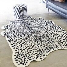140X200 см Ковер с животным принтом Зебра Леопард искусственная кожа ковры для гостиной мягкий меховой Декор Ковер и коврик