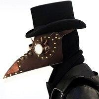Corstory ретро коричневый кожаный и золотистыми заклепками доктор чума птица маска длинный нос клюв Косплэй стимпанк Хеллоуин костюм реквизит