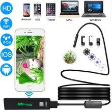 1200P 8 мм USB Android смартфон Wifi эндоскоп IP68 водонепроницаемая гибкая камера инспекционный бороскоп эндоскоп для IOS MAC PC