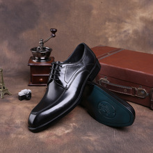 QYFCIOUFU Brand Italian Fashion Handmade Genuine Leather Men Black Wine Red Formal Shoes Luxury Business Wedding Men Dress Shoe