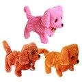 Новая Электронная Собака Игрушка На Батарейках Стали Синий Плюшевые Прогулки Лай Электронные Домашние Животные Собака Игрушки Коричневый Желтый Розовый # LD789