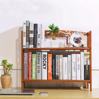 50cm Student Desk Bookcase Bookshelf Bamboo Wood Desktop Simple Multi function Wooden Self Storage Holder Home/Office Decor