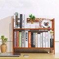 DIY Estudante Mesa Estante Estante De Madeira De Madeira De Bambu Simples Desktop Pequeno Multi-função Auto Suporte De Armazenamento De Casa/Escritório decoração