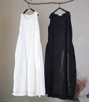 Top Quality Beach Dress Sleeveless Double Cotton Dresses Waist Drawstring Purple Dress Long Design Summer Robe