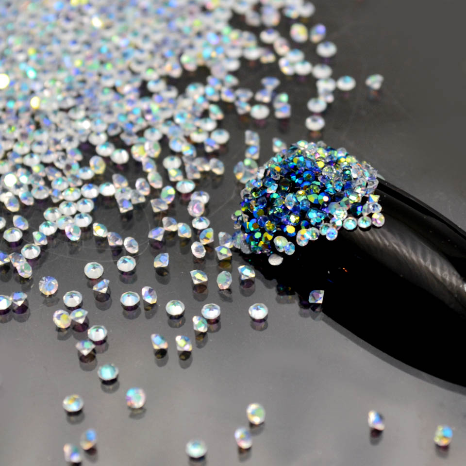 In Stil; 1,1-1,6mm Kristall Pixie Ab Glas Micro Kristall Strass Für Nägel Strass Nagel Kunst Dekorationen Strass Pixies Mjz001 Modischer