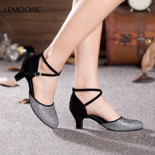 LEMOCHIC nuovo samba latino scarpe da ballo liscio per le donne ragazze  salsa tango jazz passo
