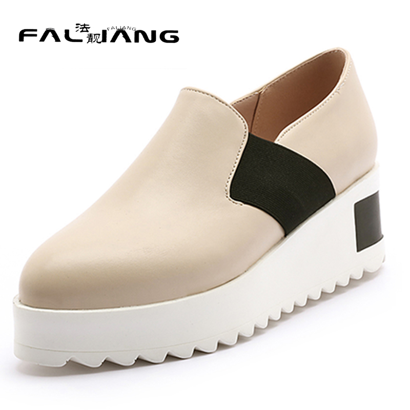 Spring Autumn New Big Size 11 12 Elastic band women shoes pointed toe woman ladies Flat Platform womens thick high flat shoes new flock high big size 11 12 women shoes wedges pointed toe woman ladies butterfly knot casual spring autumn sweet single shoes