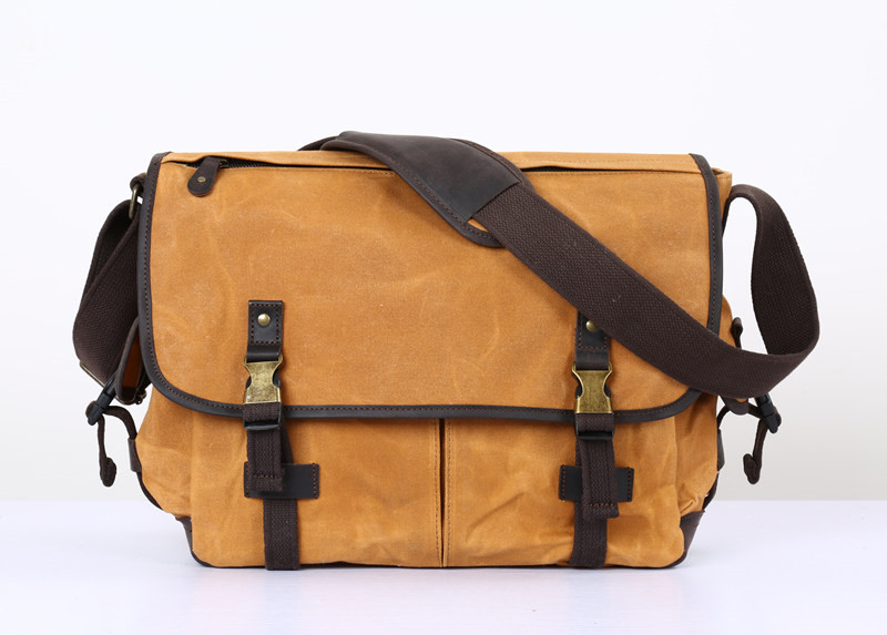 Nesitu High Quality Vintage Waterproof Grey Army Green Coffee Yellow Canvas Men Messenger Bags 14 Laptop Shoulder Bag #M5355Nesitu High Quality Vintage Waterproof Grey Army Green Coffee Yellow Canvas Men Messenger Bags 14 Laptop Shoulder Bag #M5355