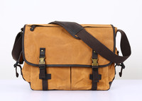 Nesitu High Quality Vintage Waterproof Grey Army Green Coffee Yellow Canvas Men Messenger Bags 14'' Laptop Shoulder Bag #M5355
