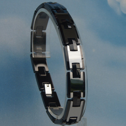 10MM 2tone black Men classic heavy hi-tech scratch proof tungsten bracelet