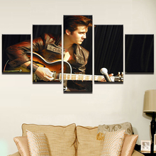 Modular Canvas Home Decor Wall Art Pictures 5 Pieces Elvis Presley Poster Guitar Painting Living Room HD Printed