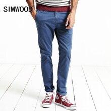 Simwood 2016 neue herbst winter casual hosen männer länge mode hosen kleinkariert muster kx5538
