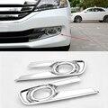 2016 Car Styling 2 Unids/set ABS Recortar Accesorios de Protección Frontal Niebla Cubierta de la Lámpara Diurna Para Honda Accord novena