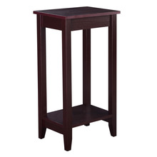 Wooden Tall End Table For Bedroom & Living Room