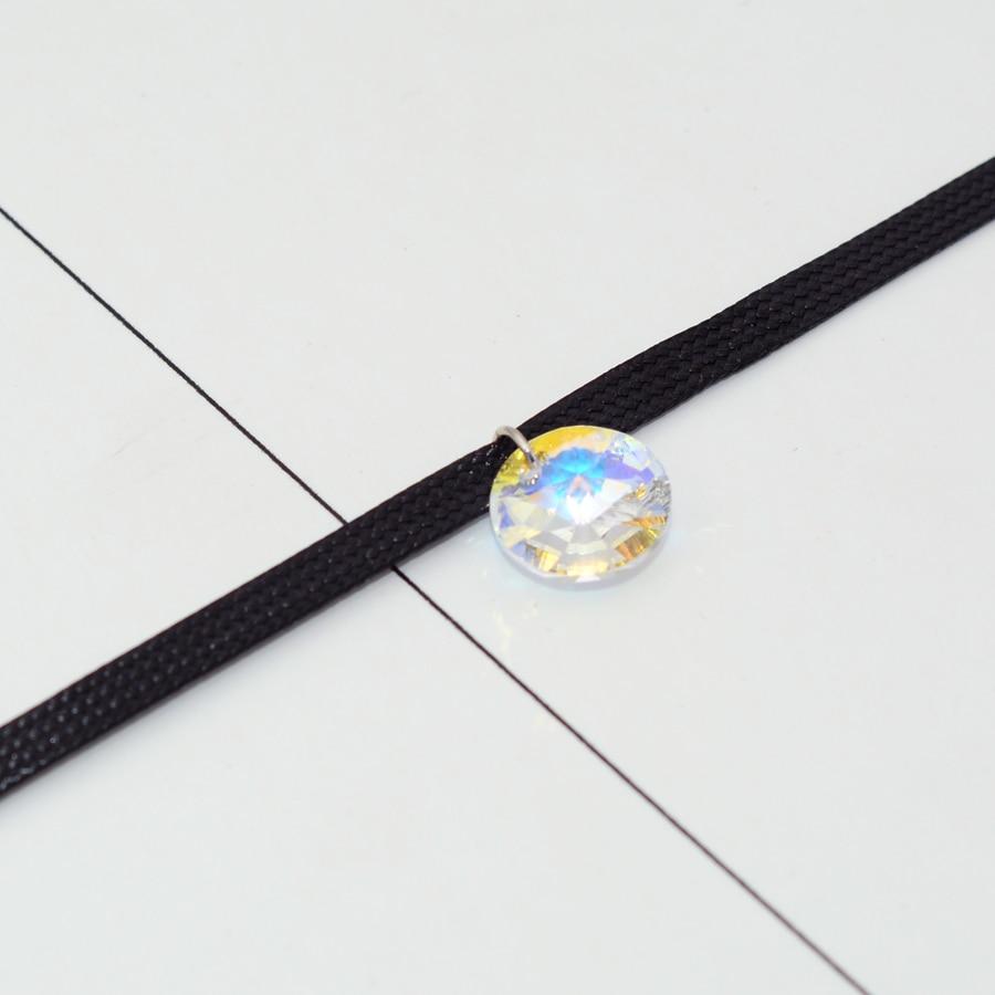 BAFFIN Simple Cristaux Ronds De SWAROVSKI Éléments Choker Collier - Bijoux fantaisie - Photo 3