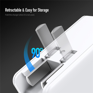 Image 5 - ROCK 45W PD Wall Fast Charge USB Charger US Plug for iPhone Dual 2.4A with Type C USB PD Fast Travel Phone Charger For Matebook