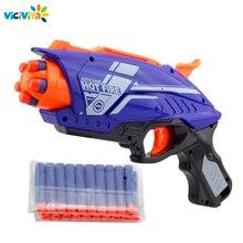 Pistola de juguete de plástico para niños, pistola de juguete de plástico para Nerf Elite Series, Blaster con 20 piezas, bala suave, EVA, juguete para niños, novedad de 2020
