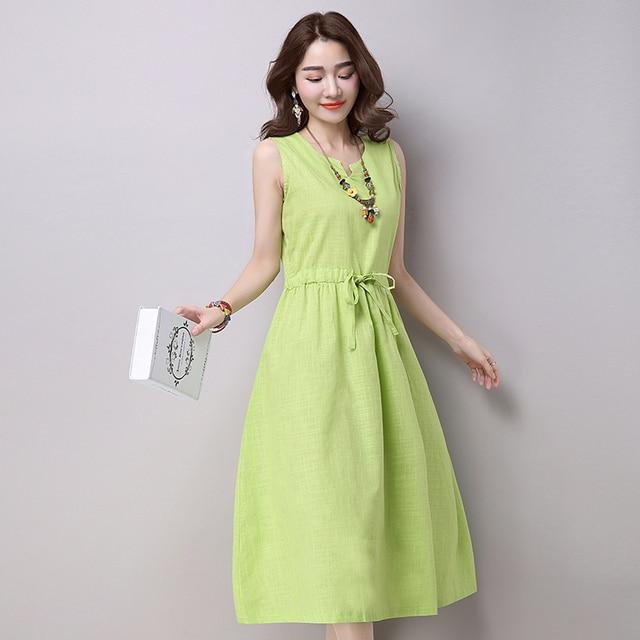 Aliexpress Buy New Summer Dress Ethnic Cotton Linen Dresses