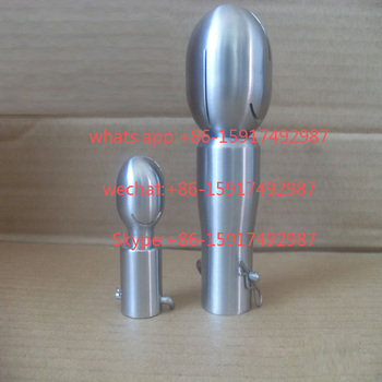 """3/8 """"-2"""" 316L Bola de pulverización rotatoria Plug-In de acero inoxidable limpieza automática en línea de 360 grados CIP, boquilla para lavado del tanque giratoria"""