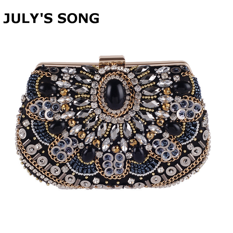 Diamond Day Clutches Female Crystal Beading Day Clutch Wallet Wedding Purse Party Banquet Bag Evening Bags Embroidery Mini Bags стоимость