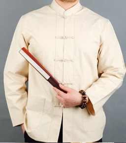 男性繁体字中国語唐スーツジャケットウー Shu 太極拳服少林寺カンフー詠春シャツ長袖演習衣装