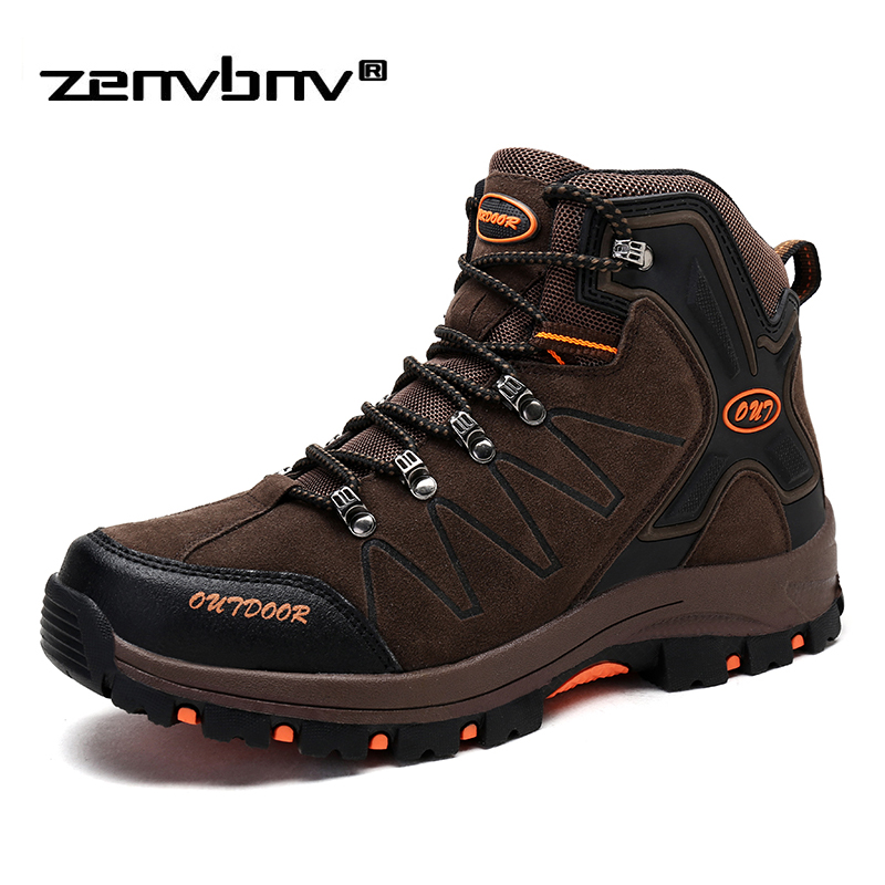 Winter/Autumn Outdoor Boots Men Shoes Male Adult Casual Ankle Rubber Anti-Skidding Boots Men work safety Shoes Footwear Sneaker(China)