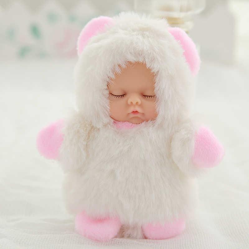 Small kawaii baby dolls plush Bjd bebe doll reborn toys Pendant for children girls Christmas gift stuffed pvc kids baby born toy