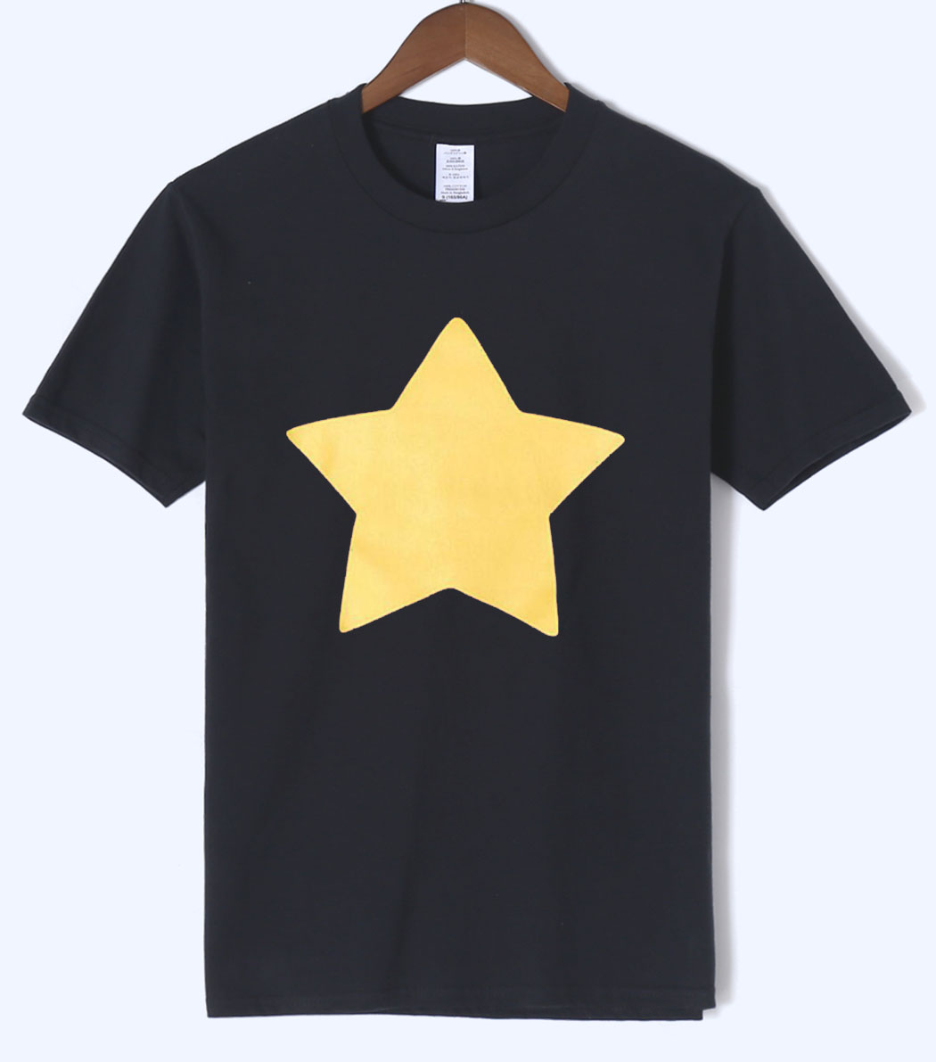 Hot Sale STEVEN UNIVERSE STAR T-Shirts 2018 Summer New Arrival Men T Shirts 100% Cotton High Quality Short Sleeve O-Neck T-Shirt