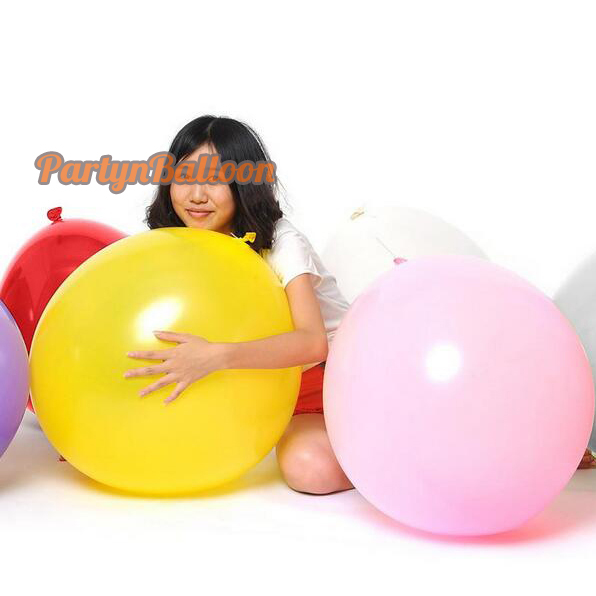 Giant Round Wedding Birthday Party Balloon, 36Inch 90CM Flat Big Luft 3FT Decorate Balloon