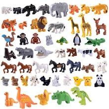 LEGOing Duplo Animal Figures Set Large Particles Educational Building  Blocks Baby Toys For Children Gift Duplo LEGOings Dinosaur 63efdab41145