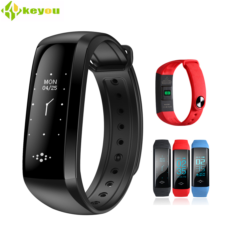 new Smart blood pressure bracelet Heart rate monitor Tracker Sports smartband bluebooth Pedometer support Andiod IOS