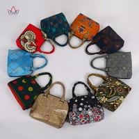 High Quality Bazin Riche African Wax Prints Fabric Women Fashion Hand Bag for Party Super Wax Hollandais with Hand Bag WYB410 1