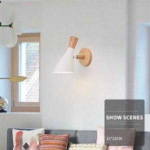 Image 2 - נורדי מינימליסטי יצירתי macaron מוצק עץ ליד המיטה בחדר שינה סלון מחקר מעבר מנורות