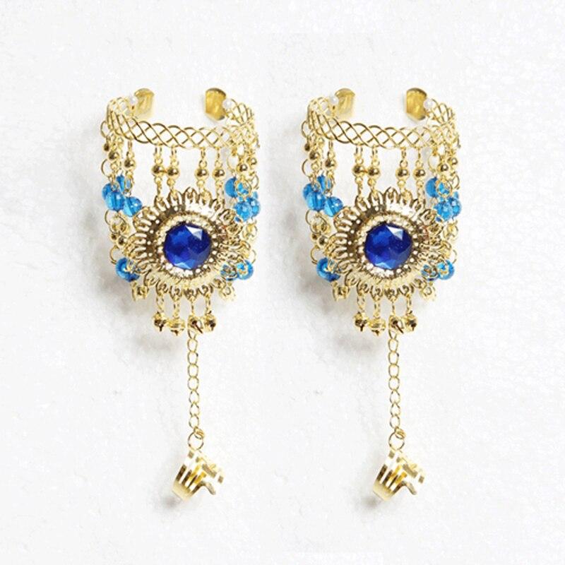 2017 аксессуары браслеты комплект ювелирных изделий индийские ювелирные изделия одежда для танцев болливуда ювелирных изделий для танца браслеты золото