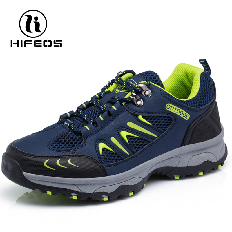HIFEOS outdoor hiking shoes breathable trekking sneakers sports wear-resistant boots anti-slip climbing anti-collision M032 цена и фото