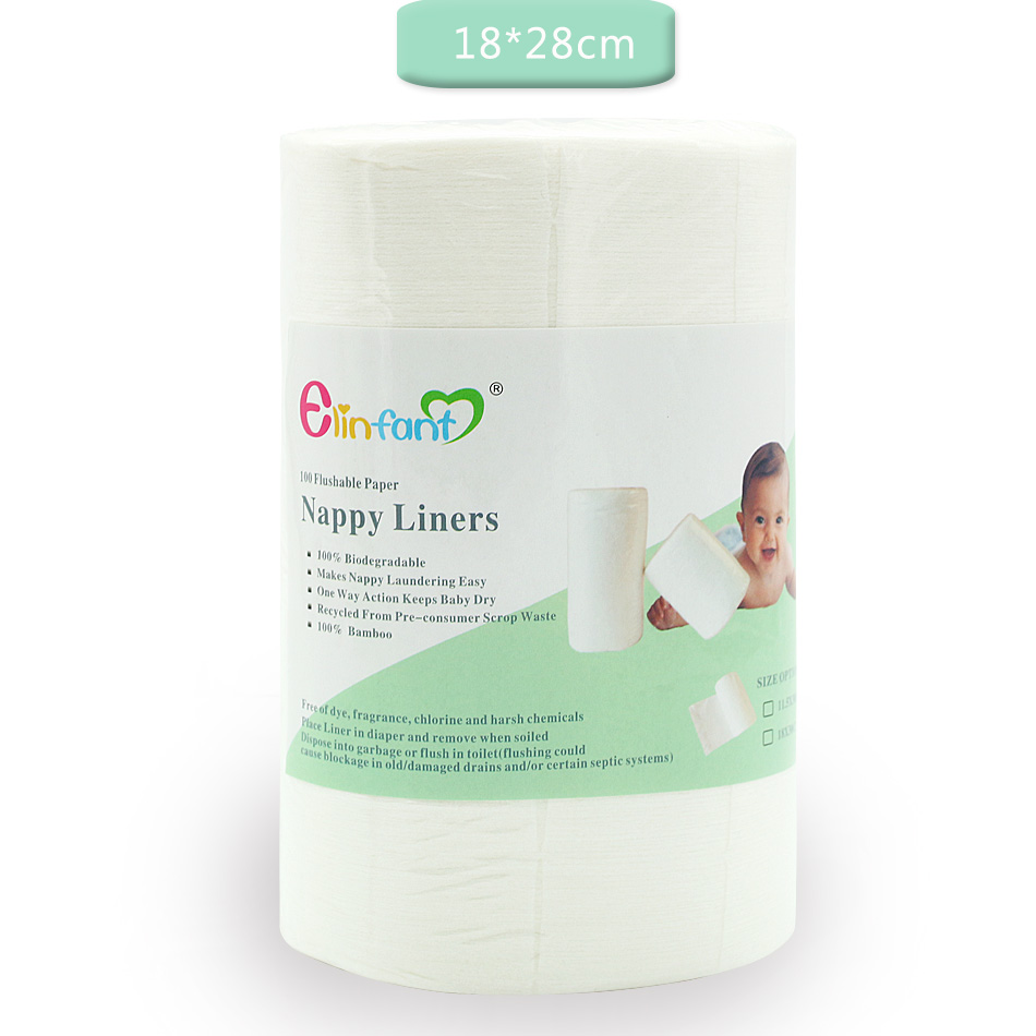 elinfant 1 roll disposable bamboo flushable baby diaper nappy liner