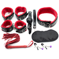 7piece/set leather adult game sex toys for couples slave women sex restraint sex products bdsm bondage gag rope handcuffs