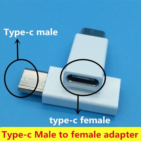 NEW USB-C type-c Male to type-c female adapter for Nexus 5X 6P Xiao Mi 5 4C m4S Meizu pro 5 6 letv1S 2PRO MAX2 Free shipping