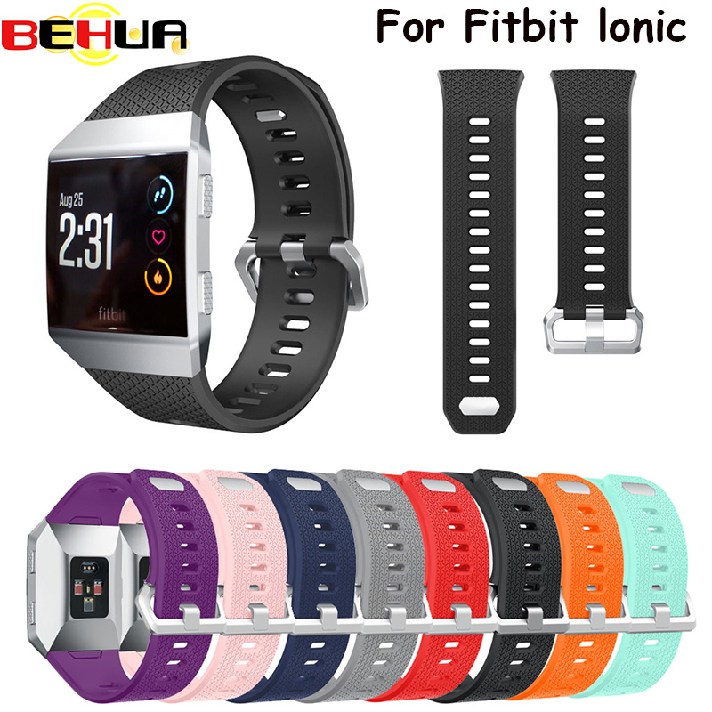 S L Size Silicone Sport Watch Bands Bracelet For Fitbit Ionic Smart Watch Strap Band Adjustable Replacement Bangle Accessories