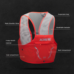 Image 4 - Рюкзак AONIJIE на 2,5 л с гидратацией, жилет с жгутом, походный ранец для бега, марафона, скалолазания