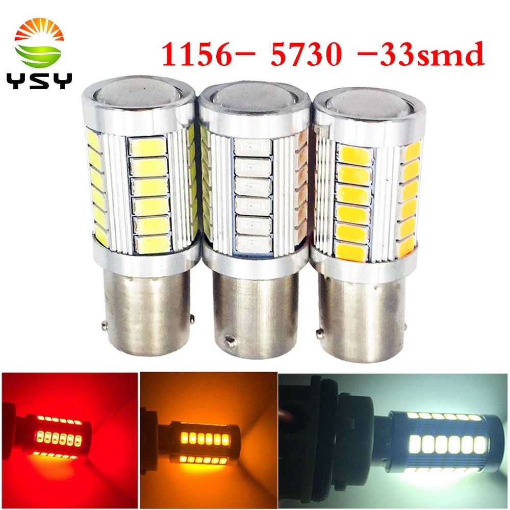 2x 1157 BAY15D 5730 33SMD LED Car Tail Stop Brake Backup Light Lamp Bulb Red New