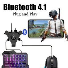 Pubg Mobile Gamepad Controller Bluetooth 4.1 Adaptor Gaming Keyboard Mouse Converter untuk Android IOS Ponsel Ke PC Remote Konsol(China)